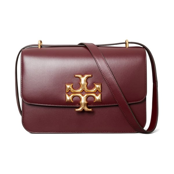Tory Burch eleanor leather shoulder bag in claret