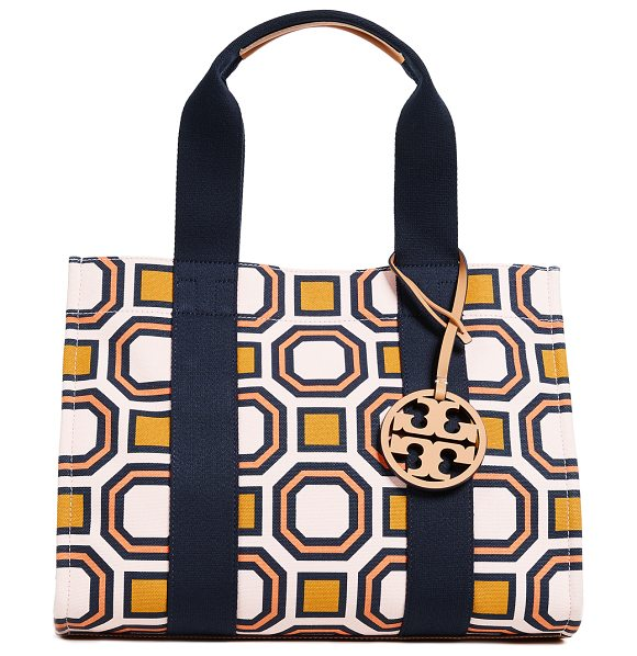 928cd3211ef6 ... inexpensive tory burch ella mini tote bag in ballet pink fabric canvas  leather trim d0db7 f7765