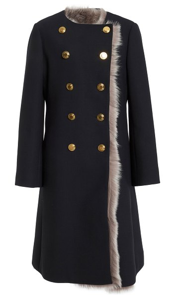 Tory Burch emilia double breasted coat in black - This *Tory Burch* Emilia Double Breasted Coat features a...