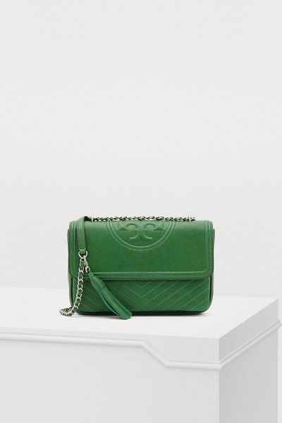 Tory Burch Fleming shoulder bag - A small gem of leather goods, this Fleming shoulder bag...