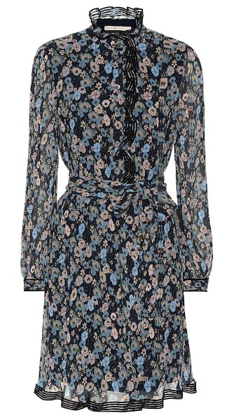 Tory Burch floral minidress in blue