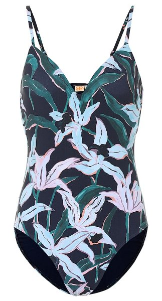 Tory Burch floral swimsuit in green