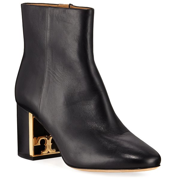 Tory Burch Gigi Smooth Zip Booties in perfect black