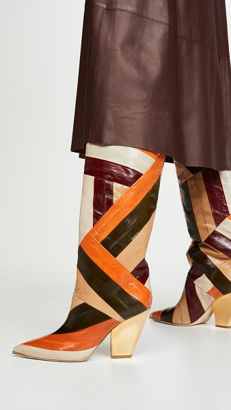Tory Burch lila 90mm boots in malbec multi