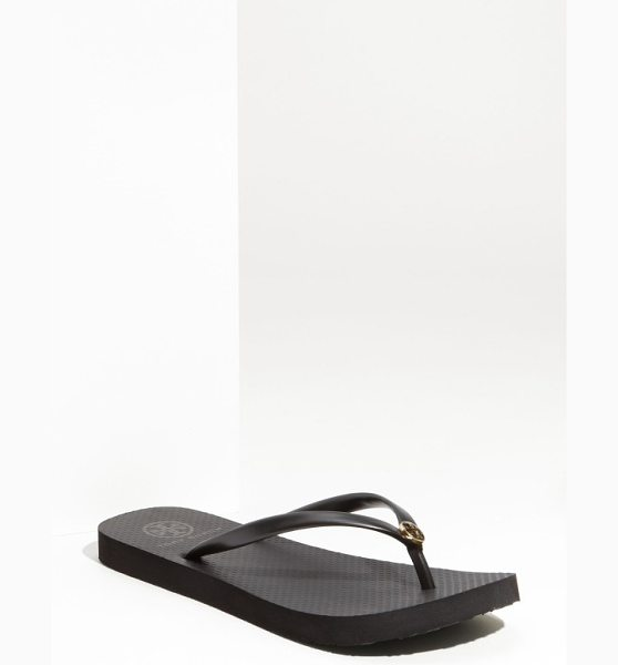Tory Burch thin flip flop in black black