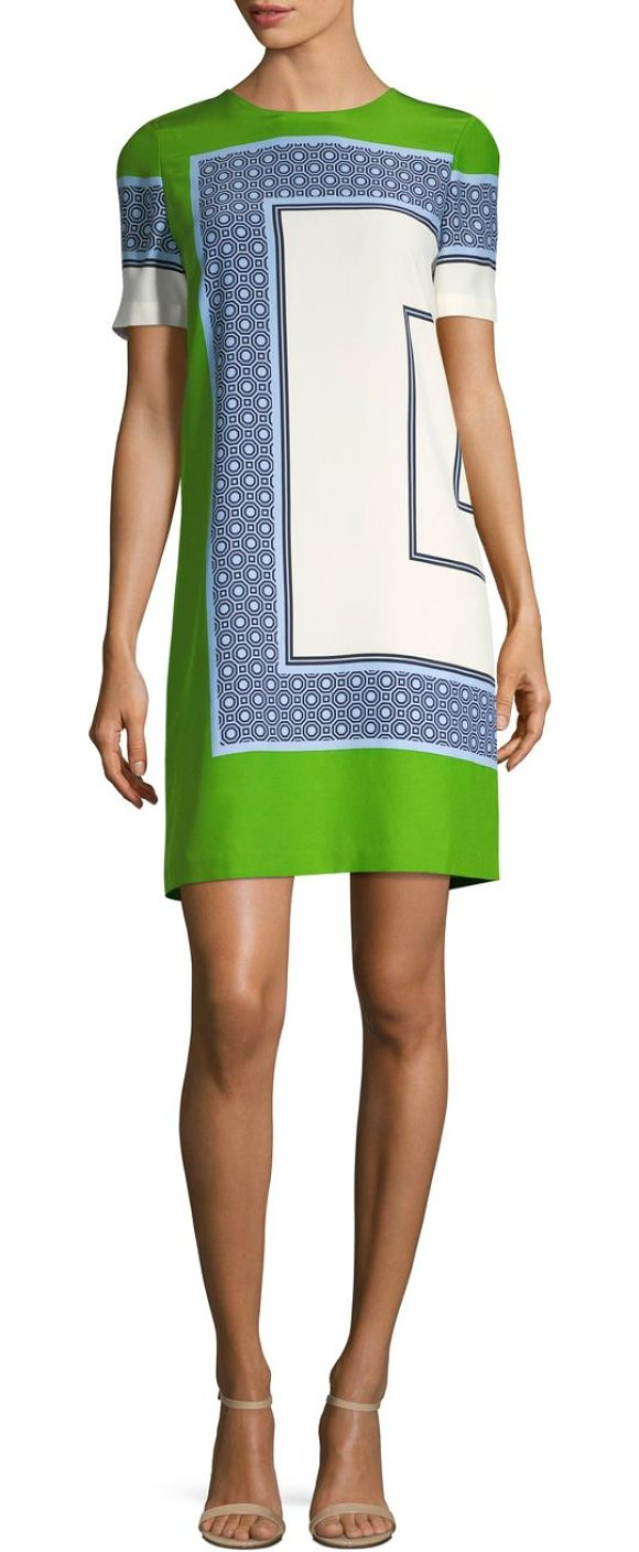 15e4fc3717f Tory Burch Mallory Silk T-Shirt Dress