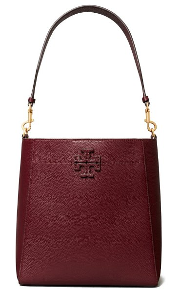 Tory Burch mcgraw leather hobo in claret
