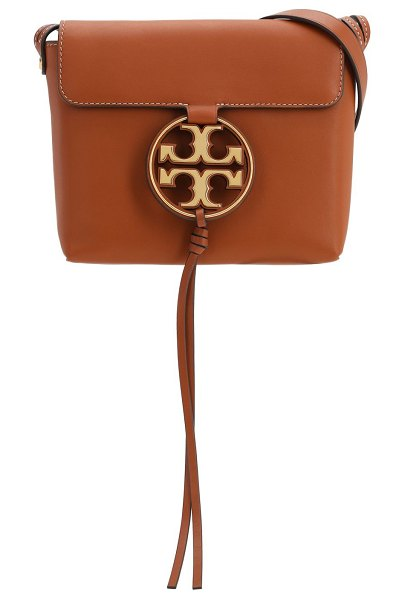 Tory Burch Miller leather crossbody bag in age cammello