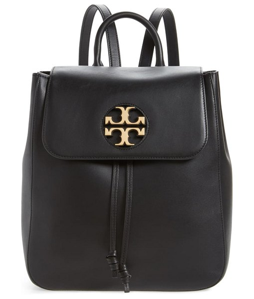 Tory Burch miller logo leather backpack in black
