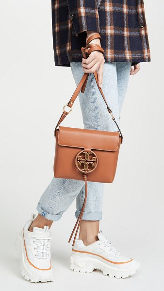 Tory Burch miller metal crossbody bag in aged camello