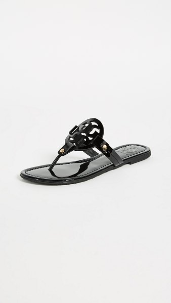Tory Burch miller patent thong sandal in black