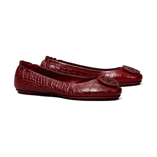 Tory Burch minnie travel ballet flat in roma red