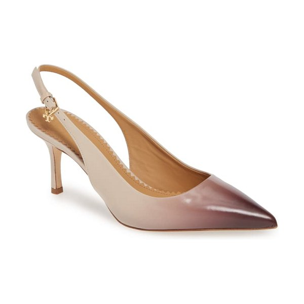 Tory Burch penelope slingback pump in light taupe/ malbec