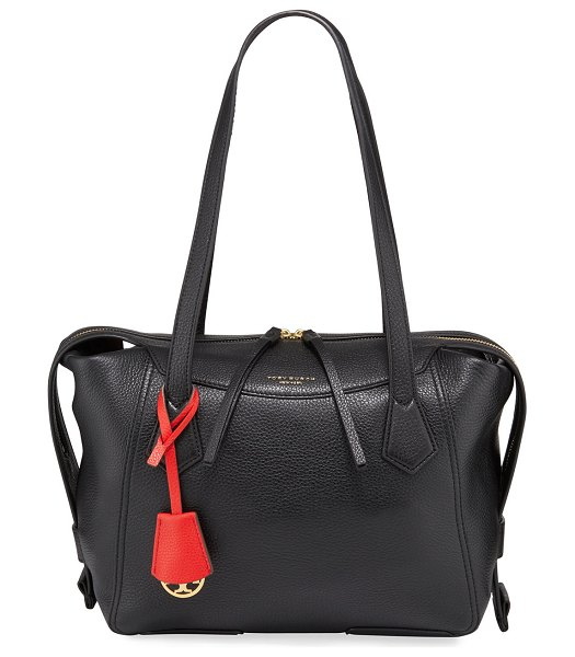 Tory Burch Perry Leather Satchel Bag in black