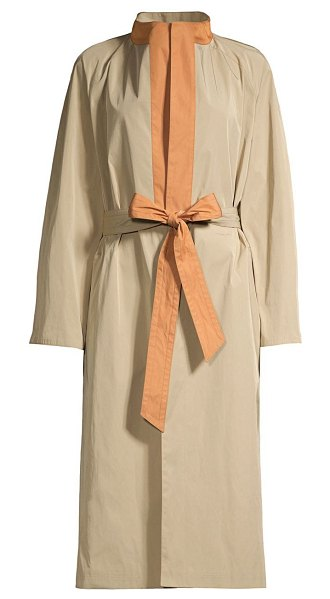 Tory Burch reversible trench coat in beige rust