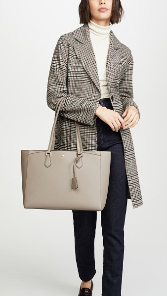 Tory Burch robinson tote in gray heron