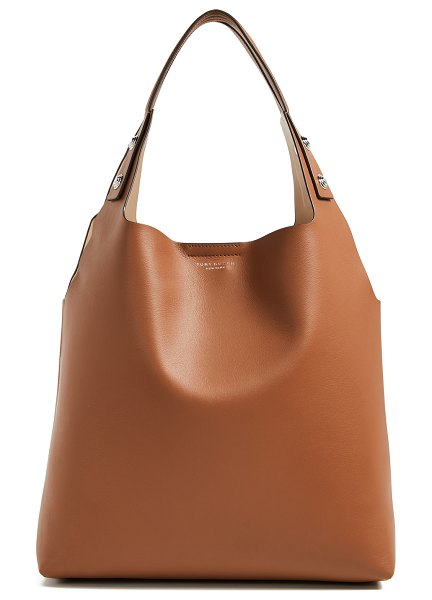Tory Burch rory tote in light umber - Leather: Cowhide Optional pouch included Hook-and-eye at...