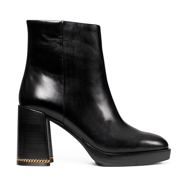 Tory Burch ruby leather ankle boots in black