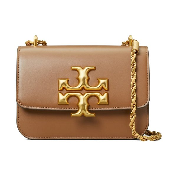 Tory Burch small eleanor convertible leather shoulder bag in moose