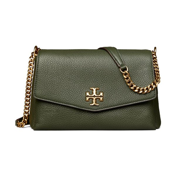 Tory Burch small kira leather shoulder bag in poblano,cream,black