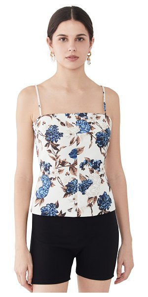 Tory Burch strappy back top in caramel mixed floral