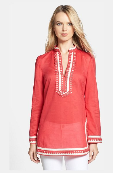 Tory Burch 'tory' cotton tunic in carnival