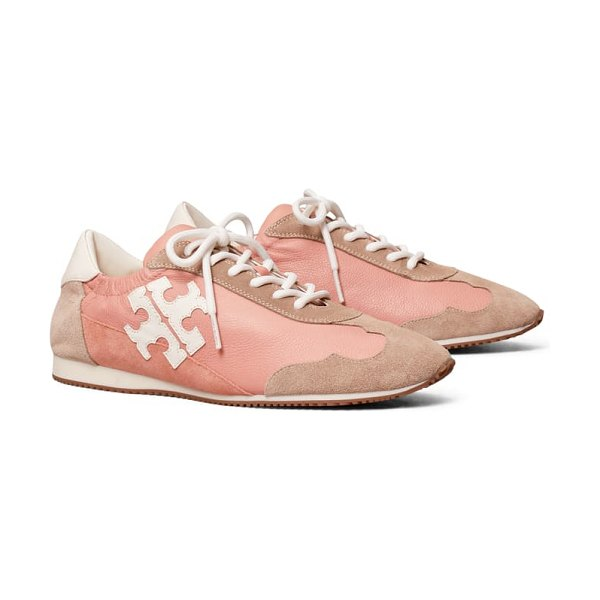 Tory Burch tory sneaker in pink moon / new ivory