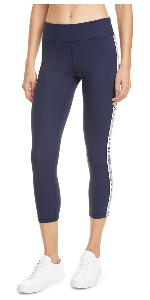 Tory Sport by Tory Burch tory sport banner 7/8 leggings in tory navy / snow white