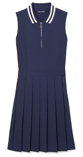 Tory Sport by Tory Burch performance pleated golf dress in tory navy