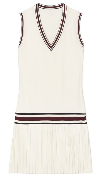 Tory Sport by Tory Burch performance tennis dress in snow white