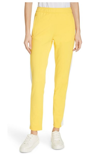 Tory Sport colorblock track pants in sundance - Sporty side stripes add a pop of panache to soft, slim...
