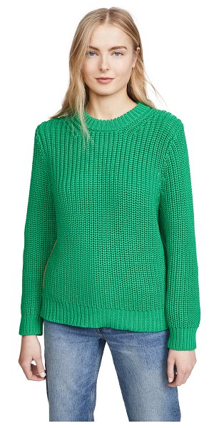 Tory Sport performance cotton ribbed sweater in vineyard