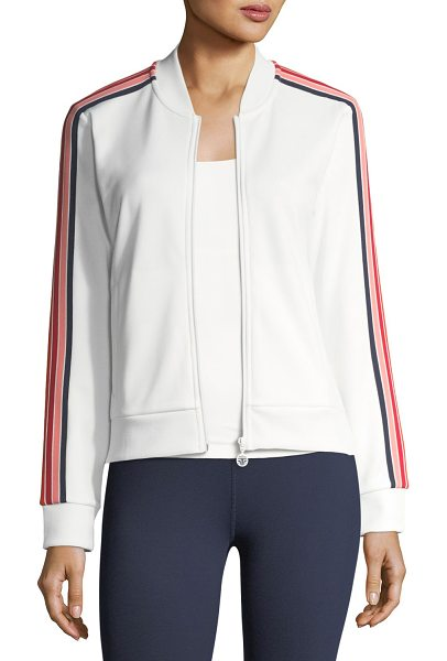 "TORY SPORT Prism Striped Performance Jacket - Tory Sport ""Prism"" jacket in performance jersey features..."