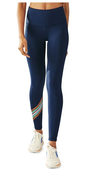 Tory Sport Spectrum High-Rise Chevron Leggings in tory navy red