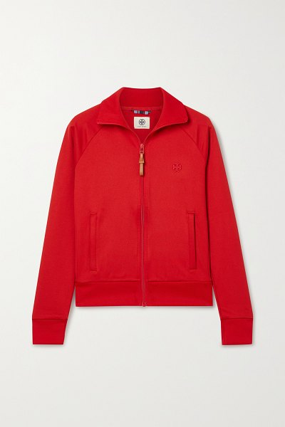 Tory Sport tech-jersey track jacket in red