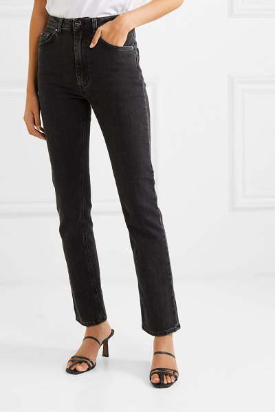 Totême standard high-rise straight-leg jeans in gray