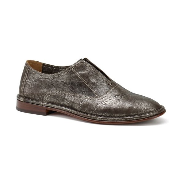 Trask avery loafer in pewter leather