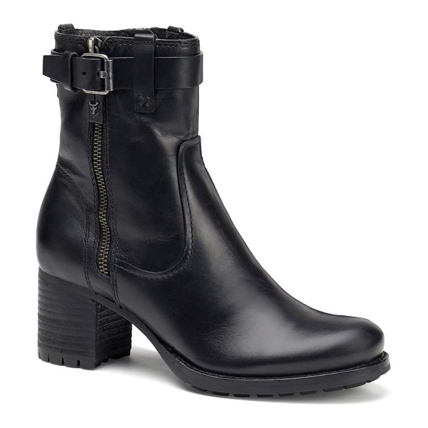 Trask madison waterproof bootie in black leather