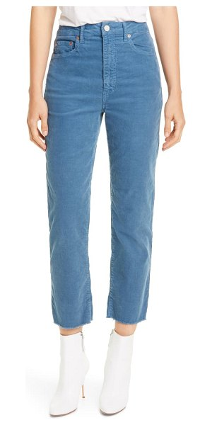 TRAVE harper high waist ankle corduroy pants in misty blue