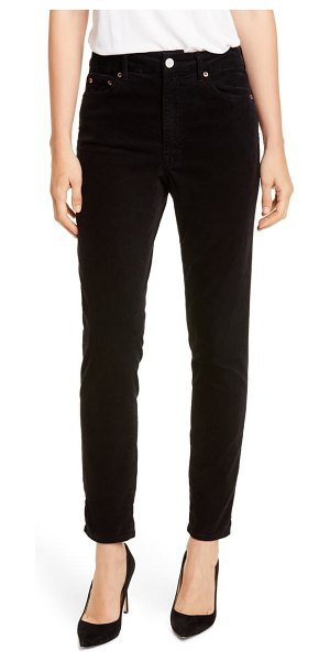 TRAVE lawson high waist skinny jeans in paint it black