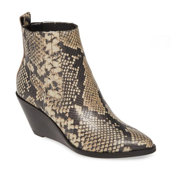 Treasure & Bond natalie wedge bootie in natural snake faux leather