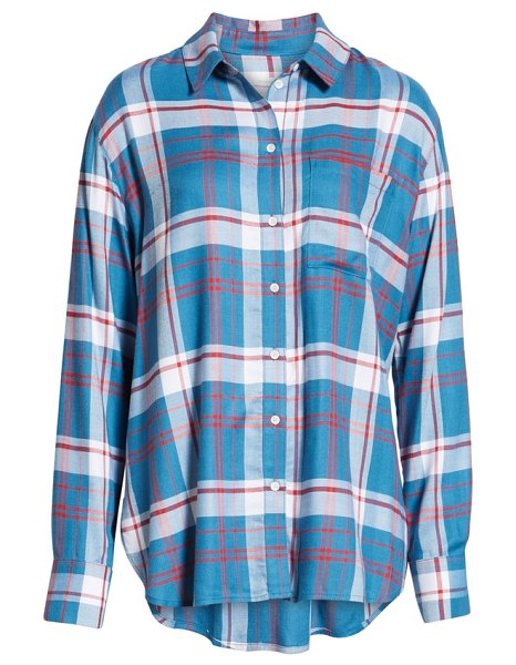 Treasure & Bond plaid boyfriend shirt in blue - Even the noncommittal will stay true to this...