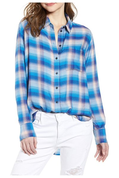 Treasure & Bond plaid boyfriend shirt in blue sodalite rancher - Even the noncommittal will stay true to this...