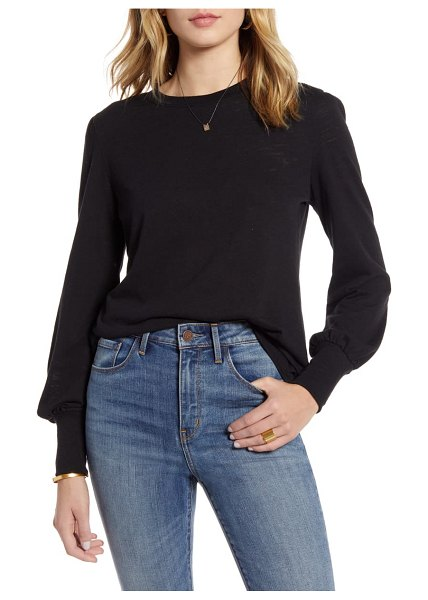 Treasure & Bond puff long sleeve tee in black