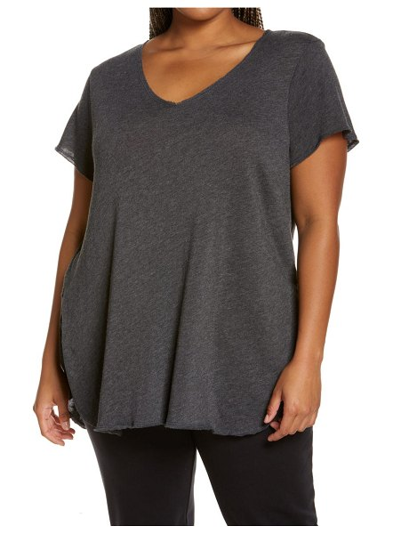 Treasure & Bond relaxed tunic top in black