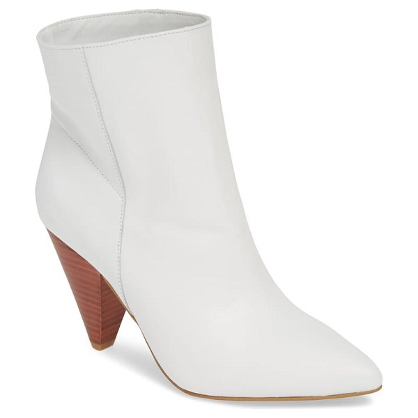 Treasure & Bond scope bootie in white - A tapered heel provides a refreshing update for this...