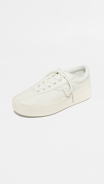 Tretorn nylite bold platform classic sneakers in vintage white