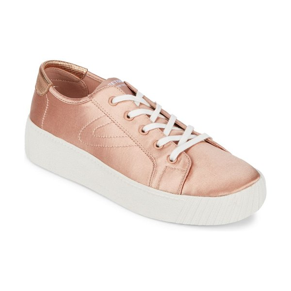 TRETORN Satin Lace-Up Sneaker - Low-top sneakers with signature logo detail on tongue....