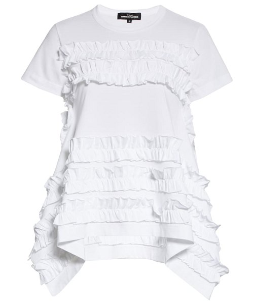 Tricot Comme des Garcons ruffle trim t-shirt in white