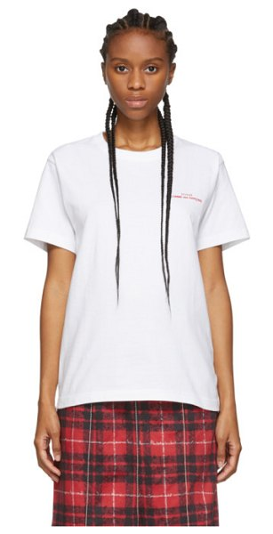 Tricot Comme des Garcons white logo t-shirt in 4 white,red
